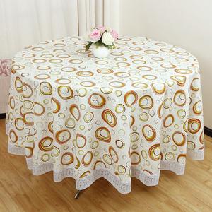 圆形桌布 防水防油免洗加厚塑料PVC家用酒店餐馆圆台布大圆桌布艺