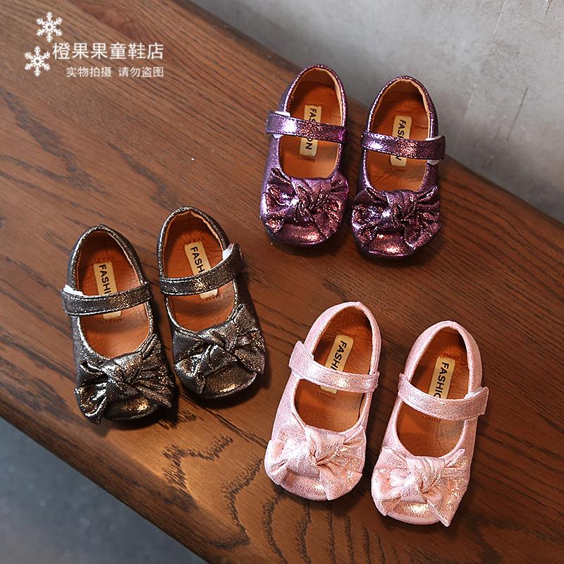 秋季新款儿童奶奶鞋女