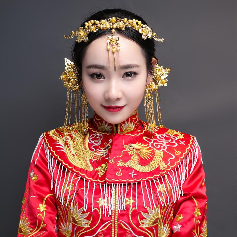 金色頭飾皇冠新娘頭飾結婚發飾