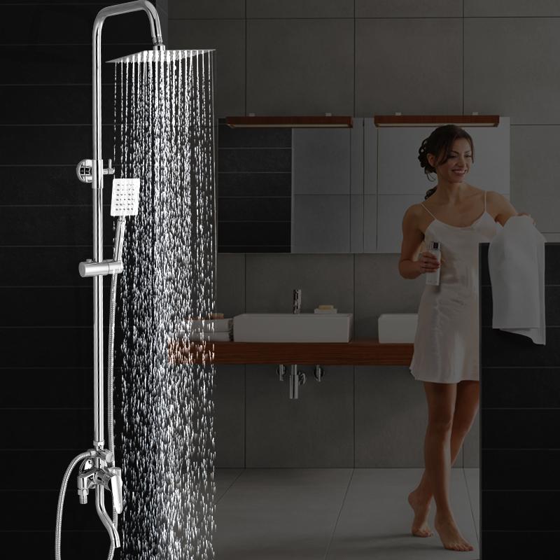 Todo el cobre con el grifo de agua caliente y fría ducha ducha vaginal traje mezcla la válvula de agua de grifos de baño