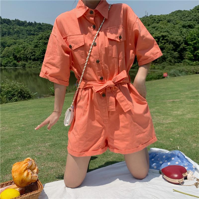 实拍实价~8775#夏季新款韩版宽松直筒休闲裤女阔腿裤连衣裤短裤