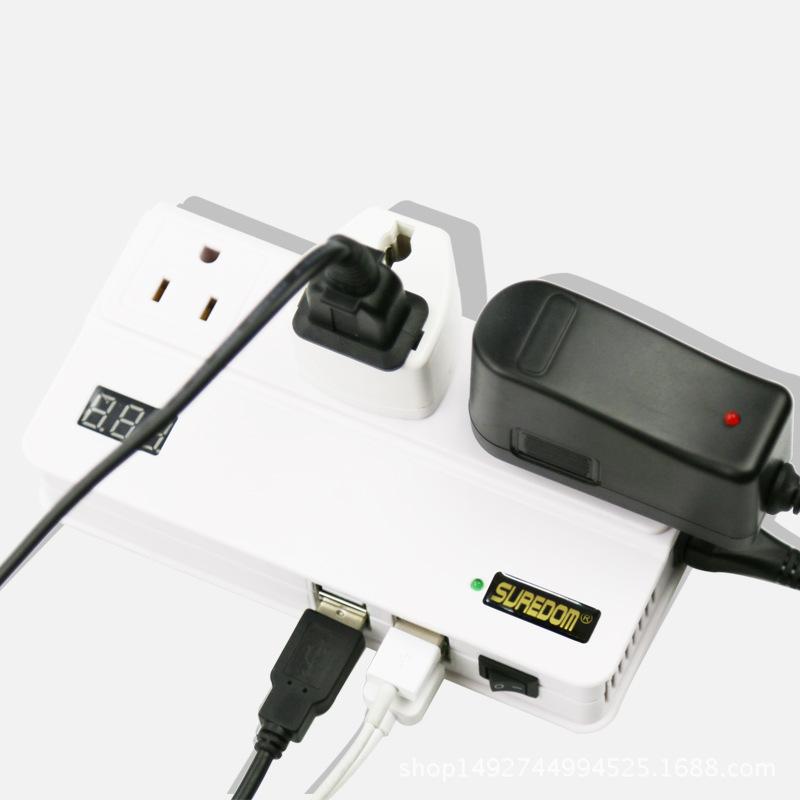 200W new car digital display inverter, 12V to 220V power converter, 5A4USB mobile phone, computer charger