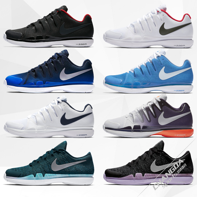 正品耐克Nike网球鞋男鞋费德勒美网飞线款气垫鞋运动鞋耐磨631458
