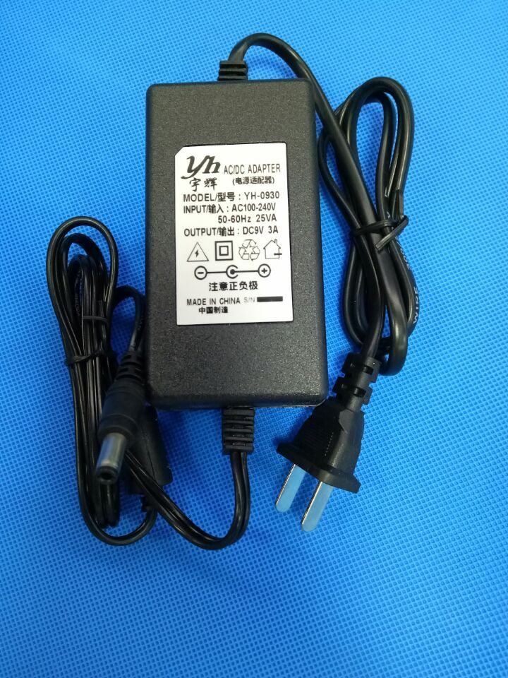 9V3A genialiteit - adapter YH-09309V3A dubbele 5.5*2.5 interface