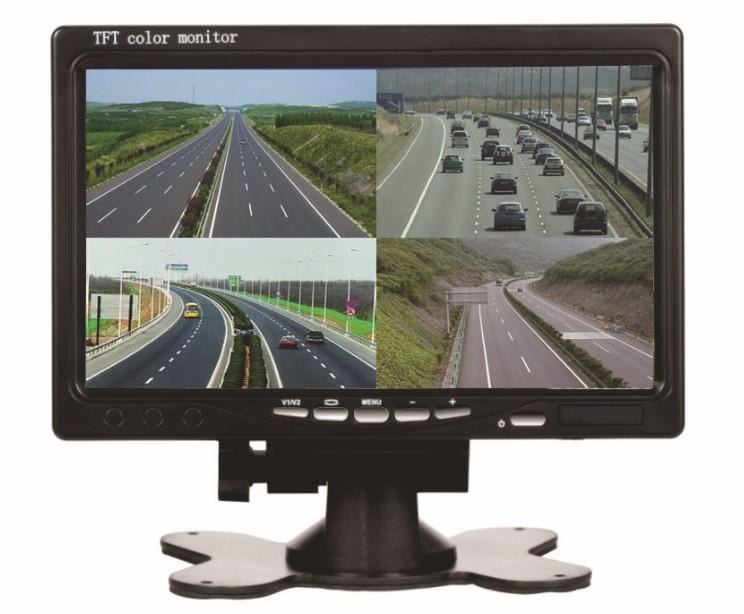7 بوصة سيارة حافلة شاحنة شاشة دفر مسجل فيديو رباعية رصد عرض 4 لو 12v24v الصورة