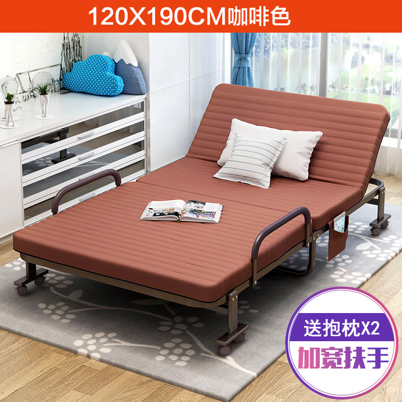 Free installation simple bed, single folding bed, double 1.51.2 meter board bed bed, office lunch bed 1.5