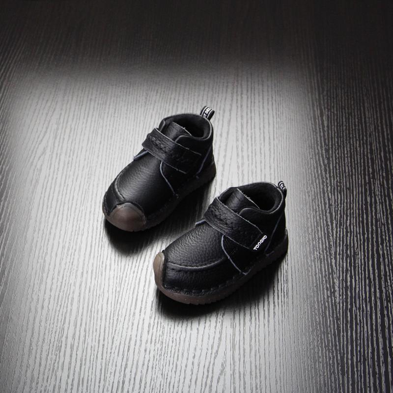 宝宝皮鞋男童冬季小童鞋二棉加绒宝宝棉鞋1-3岁男女童真皮宝宝鞋