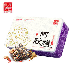 超值红枣枸杞阿胶糕500g铁盒正宗东阿原产驴皮阿胶熬即食固元糕