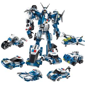 启蒙乐高积木变形金刚机器人智力 儿童益智拼装玩具3-6男孩10周岁