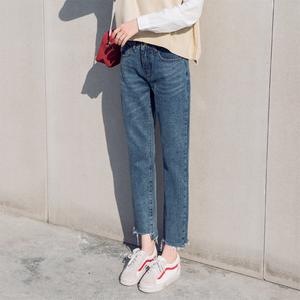阔腿牛仔裤女夏高腰2018新款韩版宽松ins超火的裤子九分薄款显瘦