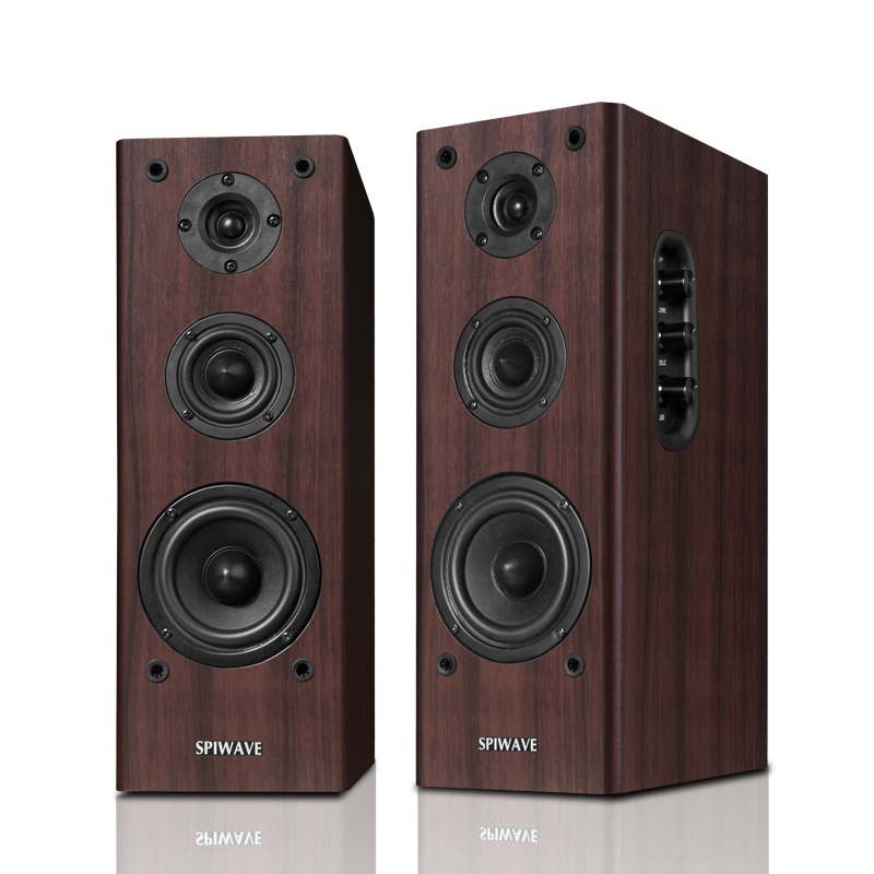 Bluetooth - audio - 2.0 - aktive computer - lautsprecher HiFi - Holz - subwoofer sound S-350 notebook bücherregal