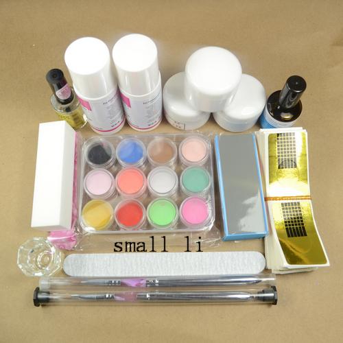 Package Nail Kit kit, crystal nail a full set of 3D crystal powder, crystal liquid three-dimensional sculpture, extend nails