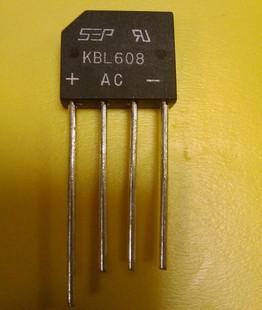 Uus originaal KBL608 alaldi sillal 6A 800V lame silla kaar