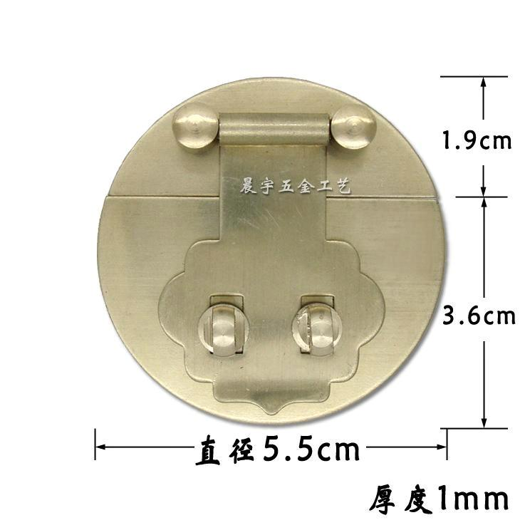 Antique copper box buckle lock box brand accessories hardware wooden jewelry box set paktong official suitcase accessories hinge