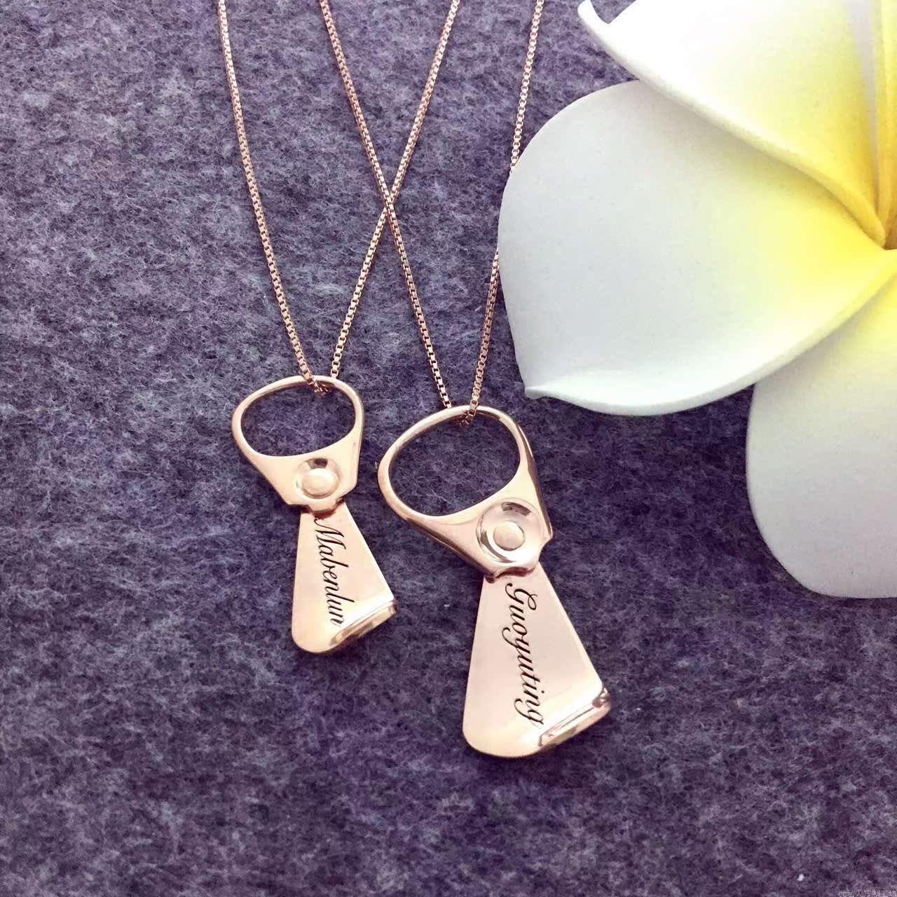kremplack ogrlico lahko zasebni prirejen za moške in ženske, japonska in južna koreja veter modni osebnost napis srebrno nakit.
