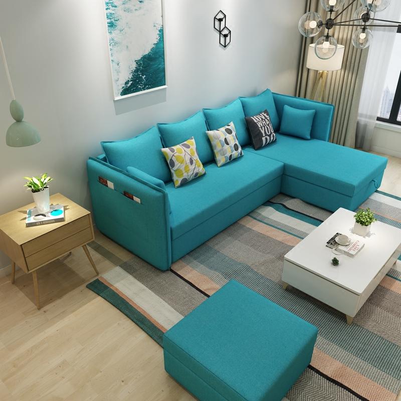 Οι μικρές οικογενειακές καναπές - κρεβάτι σύγχρονο μινιμαλιστικό πολλαπλών λειτουργιών αποθήκευσης να μπορούν να πλένονται βασιλικό καναπέ, καναπέ