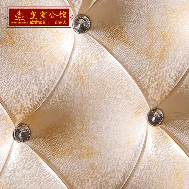Direct European double import head layer cowhide Pearl White Oak carved gilt simple European luxury bedroom furniture