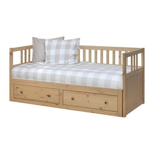 Chongqing IKEA εγχώρια αγορά HEMNES Hannes ανακληνώμενα πλαίσιο απλό ξύλινο κρεβάτι καναπέ - κρεβάτι.