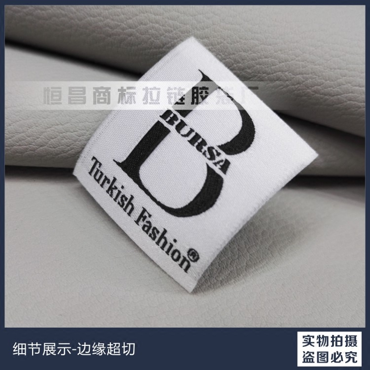 Manufacturers selling customized high-end clothing trademark main clothes made of satin collar tag design