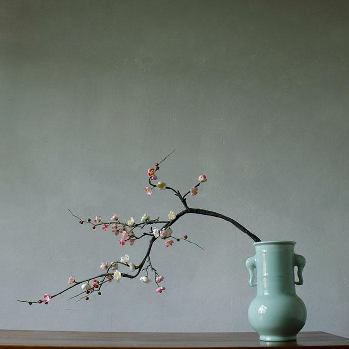 花瓶一個現代中式陶瓷花瓶擺件復古裝修玄關插花花瓶手工制作工藝裝飾花瓶