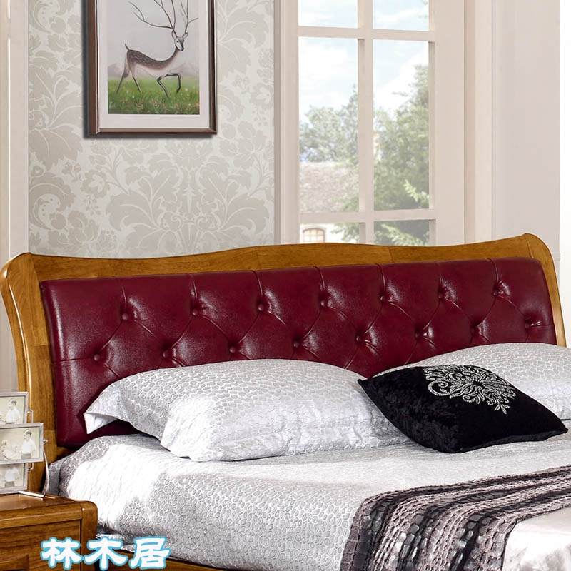 Chinese style solid wood bed, leather bed, 1.5 meters single bed, high box storage bed, 1.8 meters double bed, soft bed, marriage bed