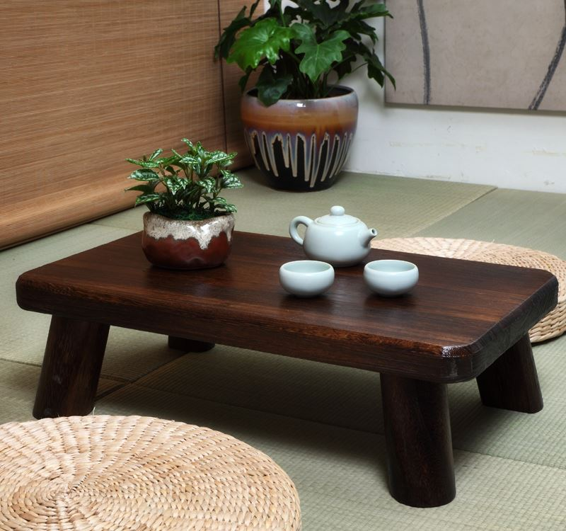 The new Japanese style tatami wood coffee table table bed computer desk window balcony Aiji few Kang Kang Table