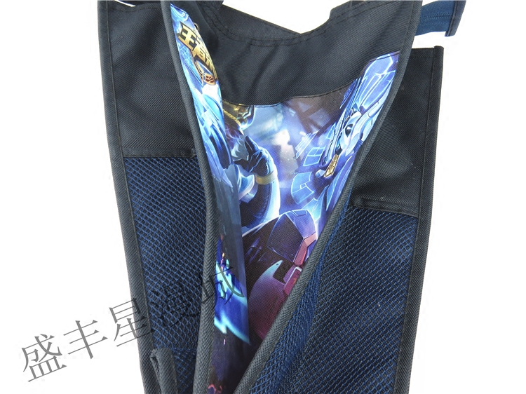 Sacchetto del sacchetto di trucco del sacchetto del libro della pupilla del sacchetto di libro della tuta del sacchetto della tuta impermeabile di tela di gloria del re piccolo