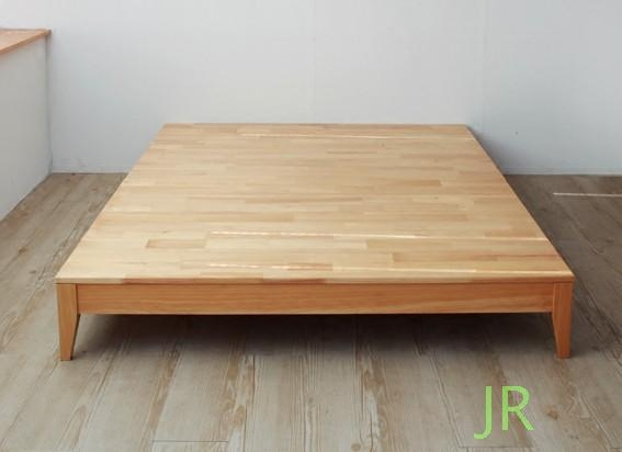 The Nordic modern Japanese simple single bed black solid walnut 1.8 meter assembly tatami bed