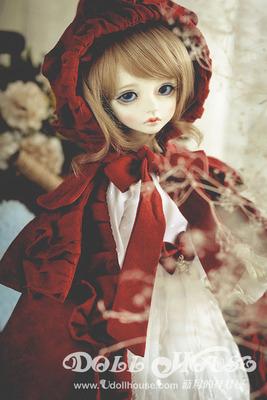 [蓝月的娃娃屋][181020]4分小红帽套装可通穿MDD MSD 巨婴娃衣