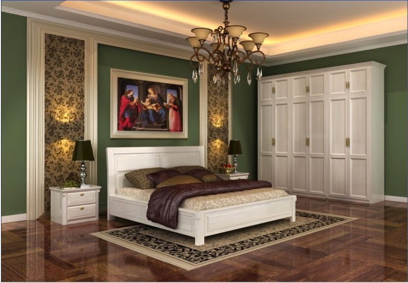 Double bed collapse collapse meter bed solid wood bed