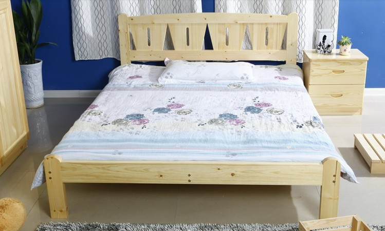 Special offer solid wood bed children bed loose bed adult bed single bed double bed bag mail