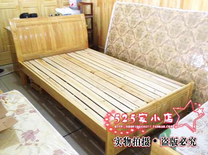 Red crown special offer oak bed / solid wood bed single bed double bed / M / 1.51.8 / bed / cot