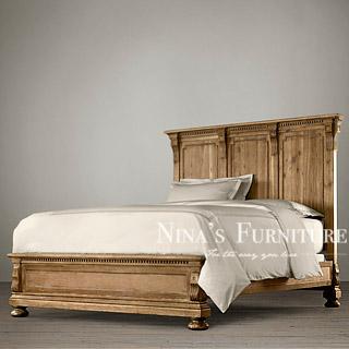Nina antique furniture export Henderson oak series double bed high spot