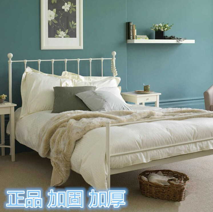 Shipping iron double bed single bed iron bed bed European children bed white garden reduced 1.5