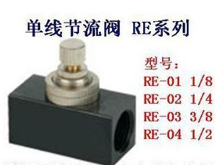 Pneumatic one-way throttle valve control valve flow control valve RE-01RE-02RE-03RE-04