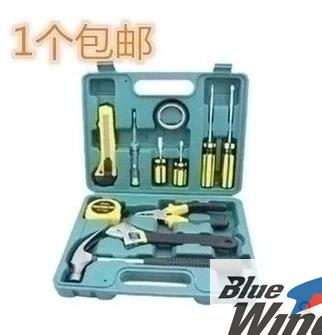 12 sets of household kit tools maintenance group automotive gifts toolbox manual clamp sets Lang hammer wrench