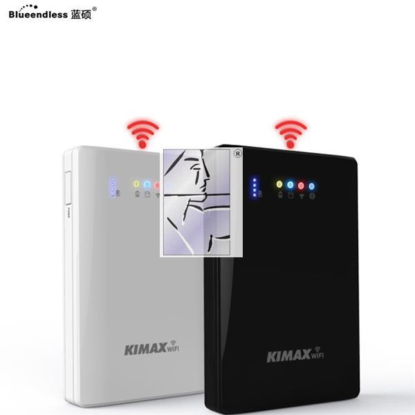 Blue shuo wifi de disque dur mobile sans fil intelligent à grande vitesse de disque dur USB 3.0 terabyte multifonctionnel 1T de colis