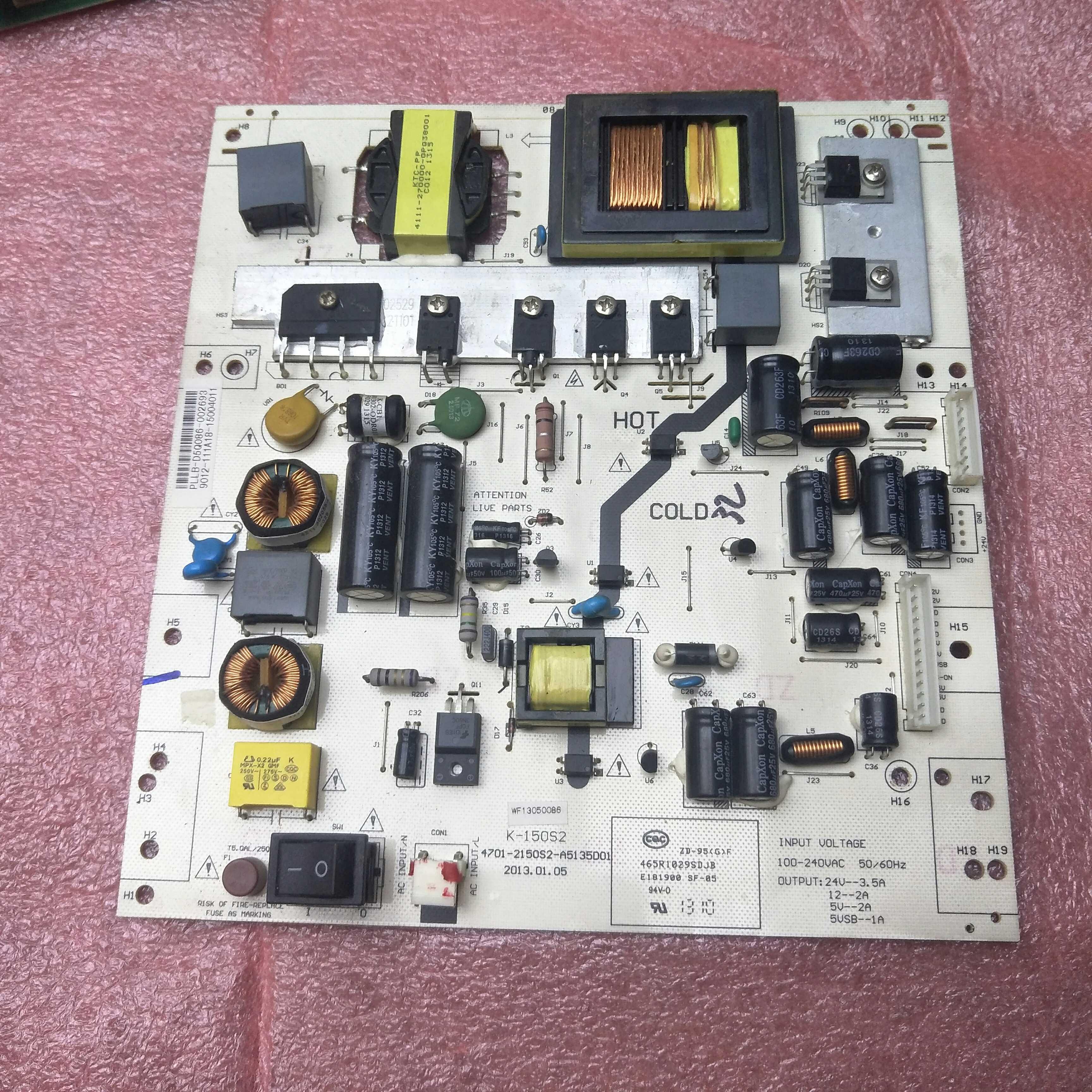 TCLLE42D5942 inch TV plasma điện cao áp Zener trong điều khiển zener trong tấm che bóng bo mạch chủ
