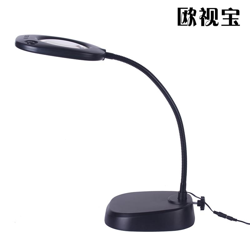 LED desk lamp magnifier clock maintenance engraving old man reading 10 times optical high definition high times