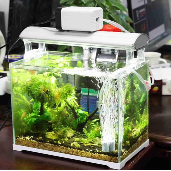Stumm Kleine Pumpe Wasser sauerstoff Aquarium belüfter tragbare artikel Bubble - Stein - Aquarium Haushalt