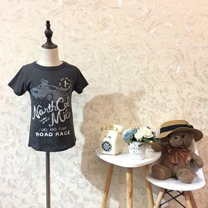 品牌童装夏季清仓特惠包邮男童纯棉印花字母短袖T恤11码