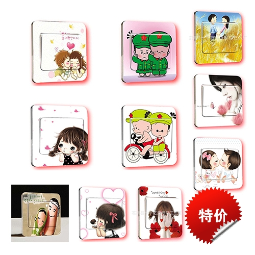 Removable switch sticker / creative finger switch sticker / switch sticker (character class)