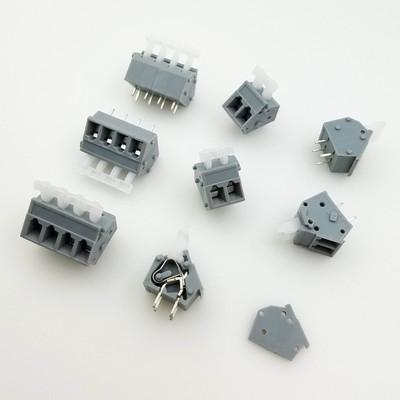 WJ / LZ / DG / KF243-5.0mm ressort de borne de connexion de carte de circuit imprimé