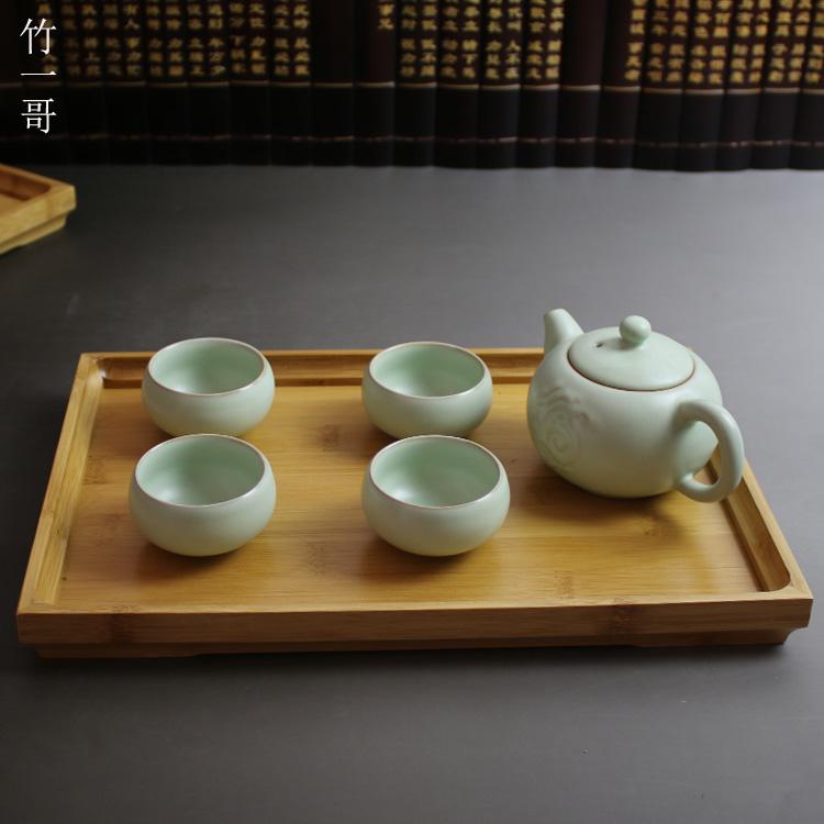 長12cm寬12cm竹托盤 竹制茶盤 茶具托盤小托盤 功夫茶盤 茶具 楠竹托盤 安吉產