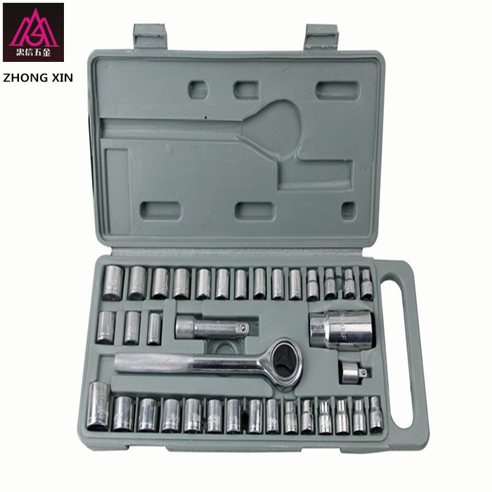 40 piece sleeve sleeve tool, household hardware repair sleeve, spark plug sleeve, six angle sleeve