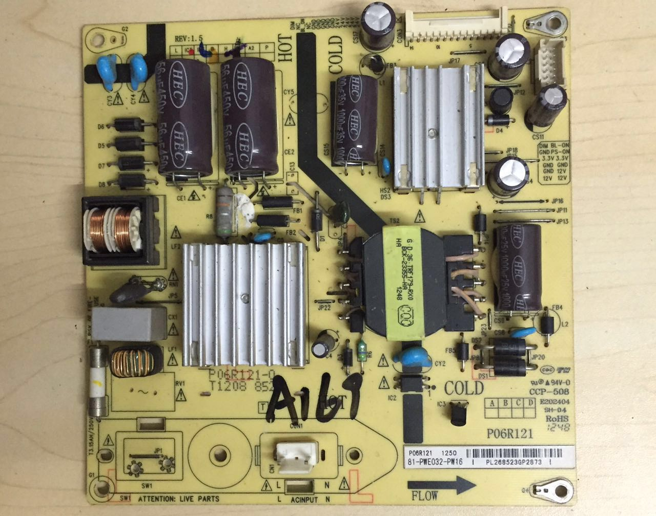 Test the original TCL LCD TV 32 inch power board E202404 circuit board SH-04