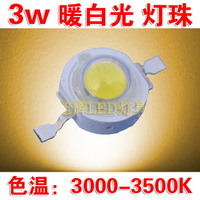 3W warm white high power LED lamp 45mil lamp 3W America Puri chip warm white single lamp