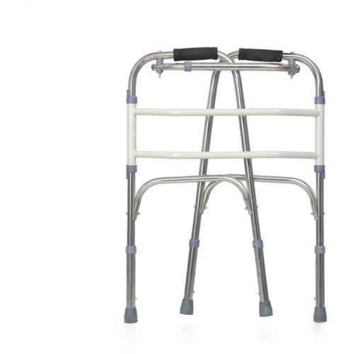 en tjockare rör av rostfritt stål för funktionshindrade eller äldre justerbar höjd av kryckor - assistent walker