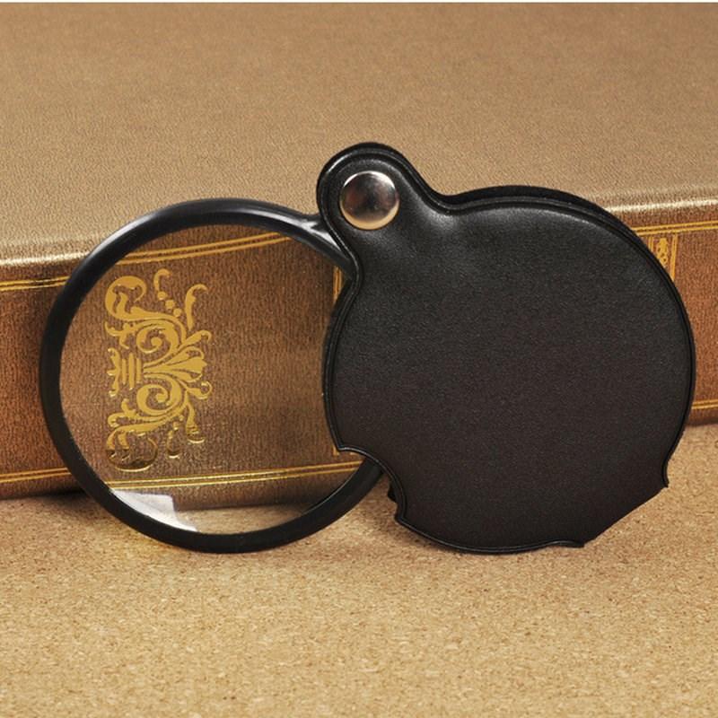 складные лупы чтения оптических стеклянные линзы портативный старик в 10 раз портативных обслуживание с кобуре расширения зеркало