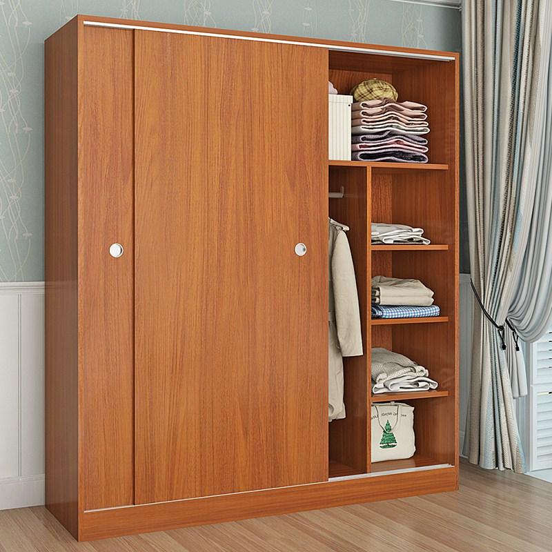 Garde - robe simple qualité en bois massif de la porte coulissante de la porte de la Chambre de personnalisation de 2 - moderne et simple de l'armoire monobloc de porte coulissante